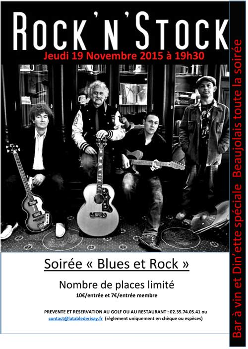 Soirée Rock – Jeudi 19 Novembre